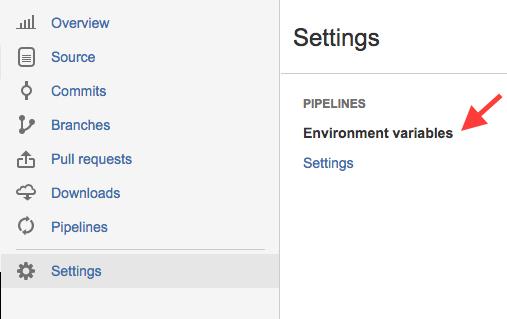 Screenshot of Bitbucket Pipelines